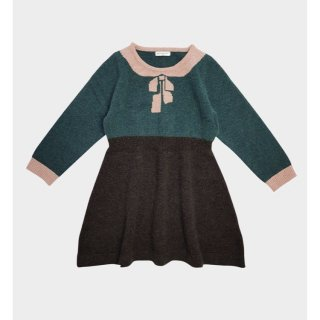 happyology florrie knitted dress emerald
