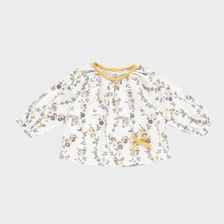 Last1! happyology polly baby blouse creamfloret