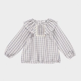 Last1! happyology justin blouse mauve plaid