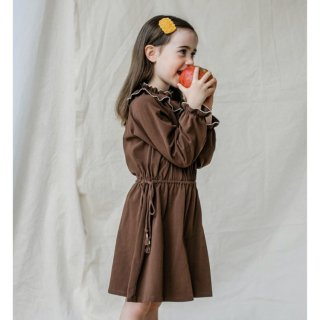 Last1! happyology birdie organiccotton dress cocoa