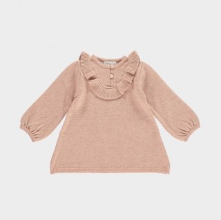 happyology cecile knitted baby dress rose