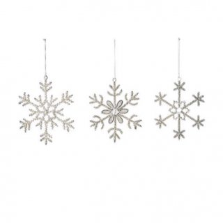 bloomingville vintage  silver ornaments 3set