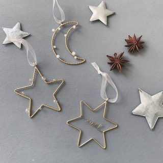 runi star & moon  ornament 3set