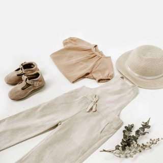 miann&co crossback overall natural linen