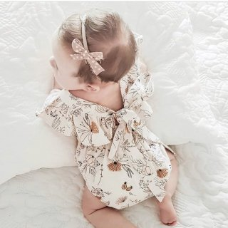 india&grace summer floral ruffle romper