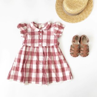 little cotton clothes audrey dress textured gingham mulberry