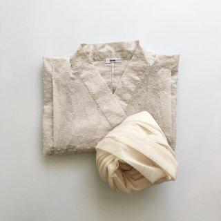bisou 浴衣 mushroom x 帯 ivory