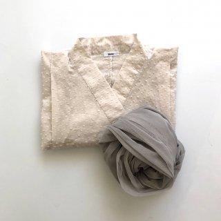 bisou 浴衣 mushroom x 帯 grey