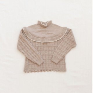 fin&vince autumn bib sweater milk/flax