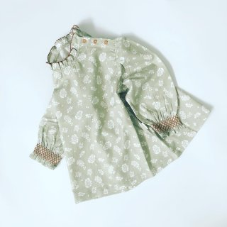 happyology  mille blouse antique green floral