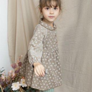 happyology mountfeld dress khaki daisy