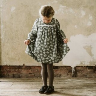 littlecottonclothes  jemima sailor collar dress green floral
