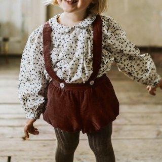 little cotton clothes  hasting bloomerromper clay velvet