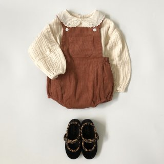 little cotton clothes  whitby romper clay corduroy