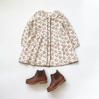 little cotton clothes agatha dress wildpose floral in nut