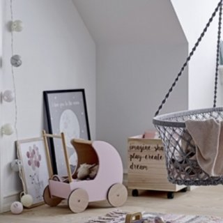 bloomingville  toy pram rose