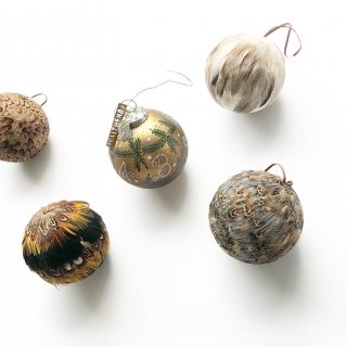 bloomingville feather ornament 4set