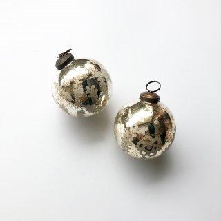 bloomingville antique silver ornament 2set