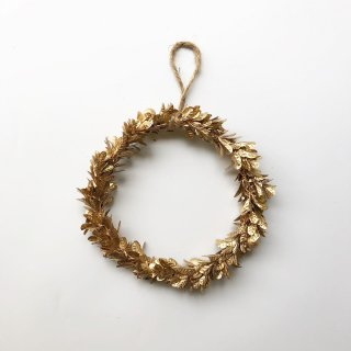 bloomingville ornament gold christmas wreath