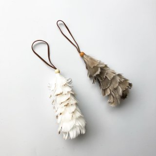 bloomingville ornament tree feather 2set