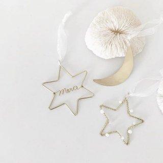 runi star & moon  ornament 3set B