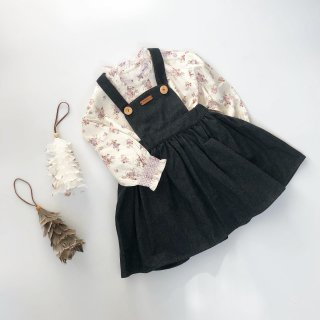 Last1! milou&pilou pinafore denim black