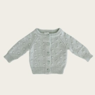 jamie kay dotty knit cardigan seabreeze