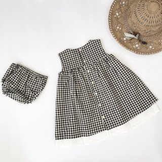Last1! petit indi gingham check dress with culotte