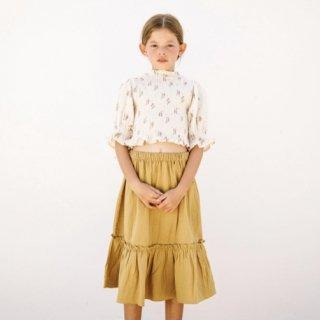 Liilu bettina smocked blouse summer bloossom