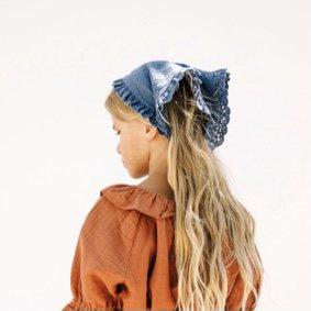 Liilu head scarf ocean blue