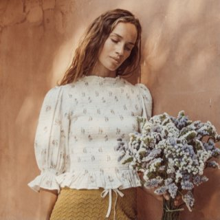 Liilu bettina smocked blouse summer bloossom for mum