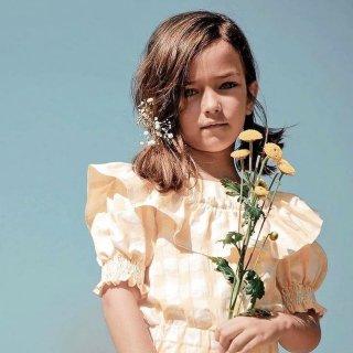 Last1! mipounet ruffle blouse yellow