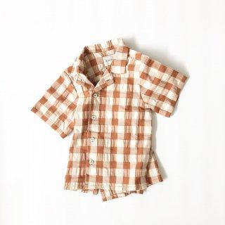 Last1! mipounet vichy shirt rust