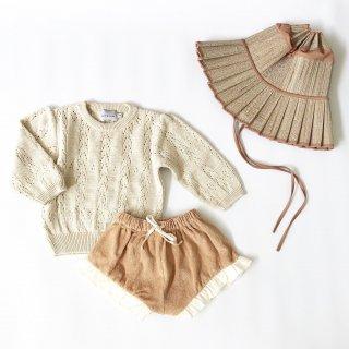 mipounet cotton openwork sweater cream