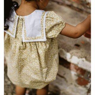little cotton clothes minaromper floral mustard