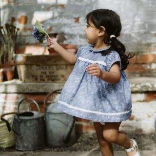 littlecottonclothes juno blouse cornflower floral