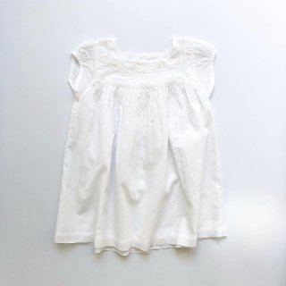 little cotton clothes joliedress embroidered yoke ivory