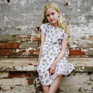 little cotton clothes rosie dress teatime floral