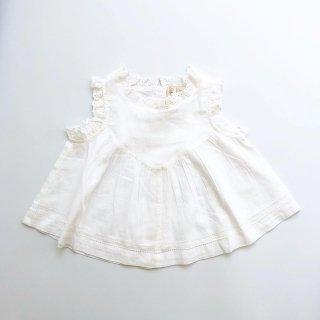littlecottonclothes rosa suntop white