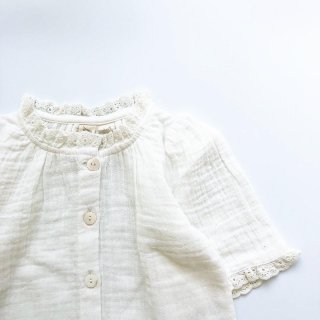 littlecottonclothes winnie blouse muslin white