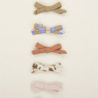 ombia  hair bow desert tan/check/sienna/flower/pale pink