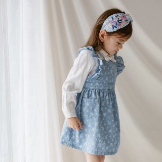 happyology  kingston overall dress denim rosa