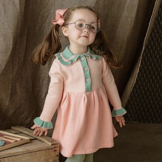 happyology  amberley knitted dress princess pink