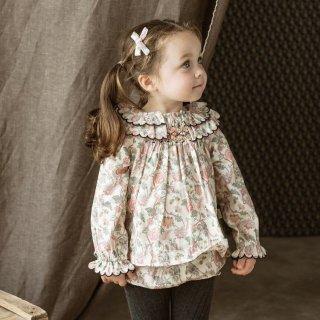 happyology  lindsey blouse&bloomer set blush peony field
