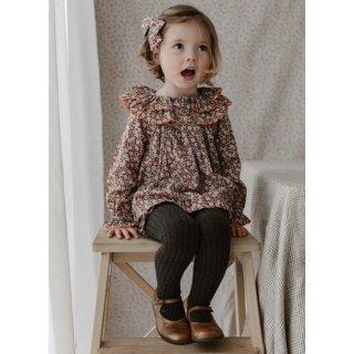 happyology  lindsey blouse&bloomer set oxford cherry blossom