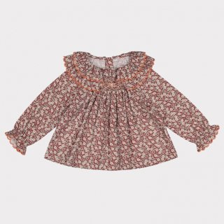 happyology  lindsey blouse oxford cherry