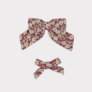 happyology  perrie hair bow set oxford cherry blossom