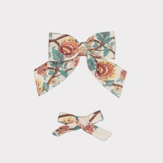 happyology  perrie hair bow set amber peony field