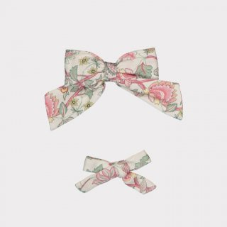 happyology  perrie hair bow set blush peony field