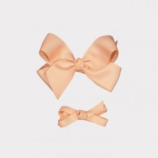 happyology  ribbon hair bow clipset armond pink
